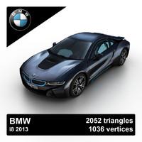3d 2013 bmw i8 sports model