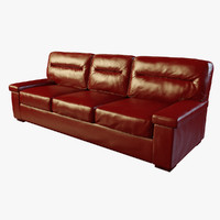 modern casino red leather 3d model