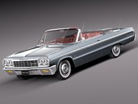 v8 antique convertible chevrolet chevy 3d model
