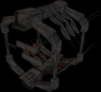 3d model scifi docking gate