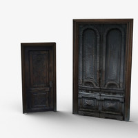 low-poly doors 3d model