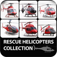 helicopters rescue 3d model
