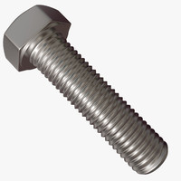 3d model hex bolt thread