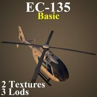 3d model eurocopter basic