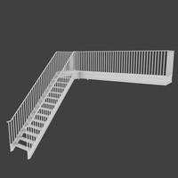 3d exterior stair model