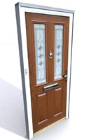 3d model of photorealistic door