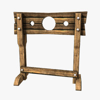 3d model of medieval stocks