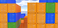 3ds shipping container stack