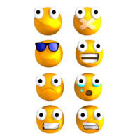 emoticons rigged 3d model