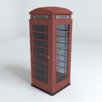 telephone kiosk 3d model