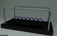 free newton cradle 3d model