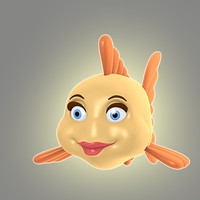 cool cartoon fish animation 3d model