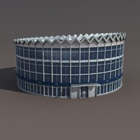 rotunda building 3d model