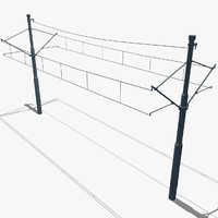 tramway power pole 3d 3ds
