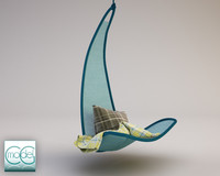 hanging chair svinga 3d c4d