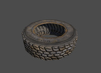wheel tires 3d obj