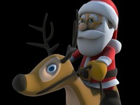 3ds max santa print-ready christmas