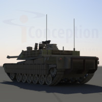 3d abrams tank m1 model