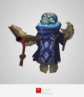 3d monster skeleton mage