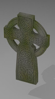 celtic gravestone monument 3d model