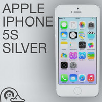 3d model of apple iphone 5s silver