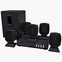DVD Home Theater Coby 760 Set