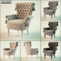 3d giusti portos regina2 chair model