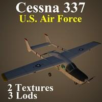 3d cessna 337 usa model