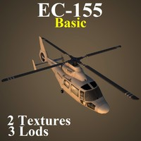 3d eurocopter basic helicopter model