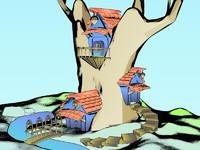 3d model tree house