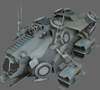 3d model stealth recon ship