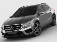 mercedes gla amg 3d 3ds