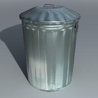 maya metal dustbin trashcan