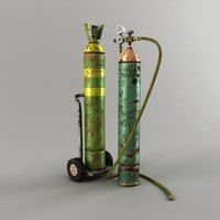 Oxygen Cylinders Low Poly
