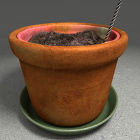 soil pot 3d obj