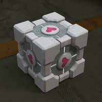 Companion Cube Low Poly