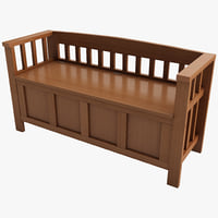 max wood storage bench