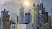 3d 3ds minecraft city