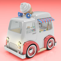 Cartoon Ice Cream Truck