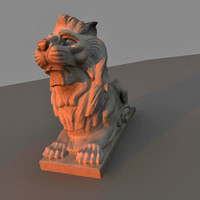 lion sculpture 3ds