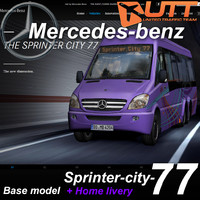 mercedes-benz sprinter city 77 3d model