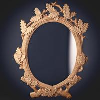 3d mirror oak