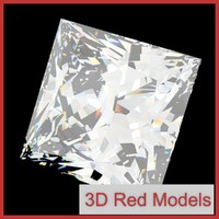 3d diamond princess cut model