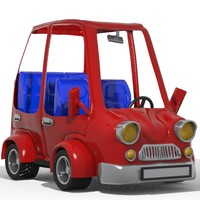 toon cartoon car 3d model