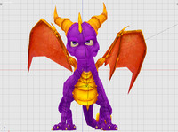 spyro dragon 3d obj