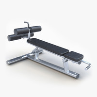 3d model press bench decline