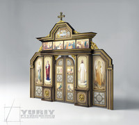 3d model of orthodox iconostasis