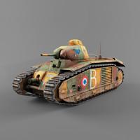 b1 heavy tank 3d model