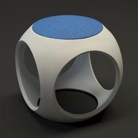 moroso oblio stool 3d model
