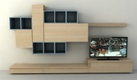 wall tv furniture 3d max